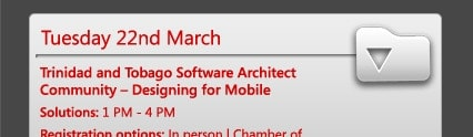 Trinidad and Tobago Software Architect Community – Designing for Mobile