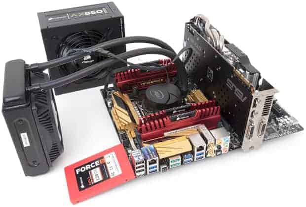 Various PC components (credit : TechReport.com)