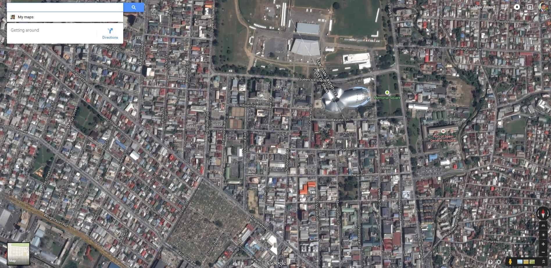 Google updates satellite imagery for Port of Spain, Trinidad in