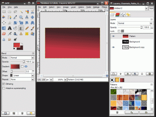 screenshot of Gimp v2.4 for Windows 2000/XP/Vista